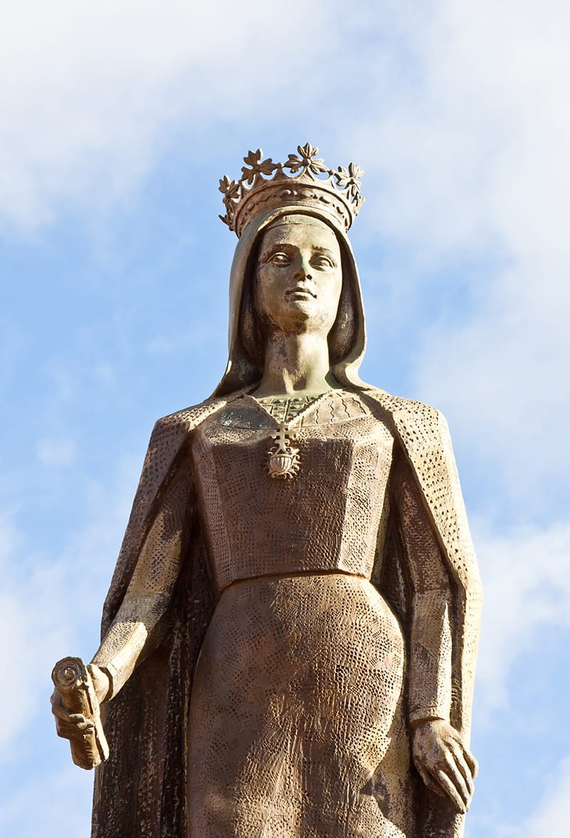 Statue of Queen Isabel in the main square of Medina del Campo